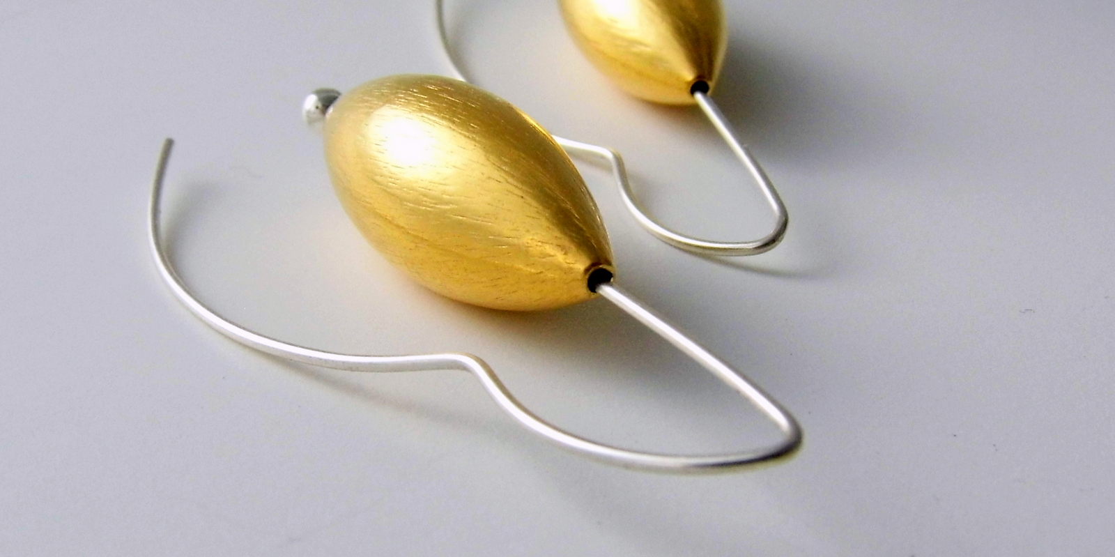 947 Large Gold Vermeil Cone Earrings