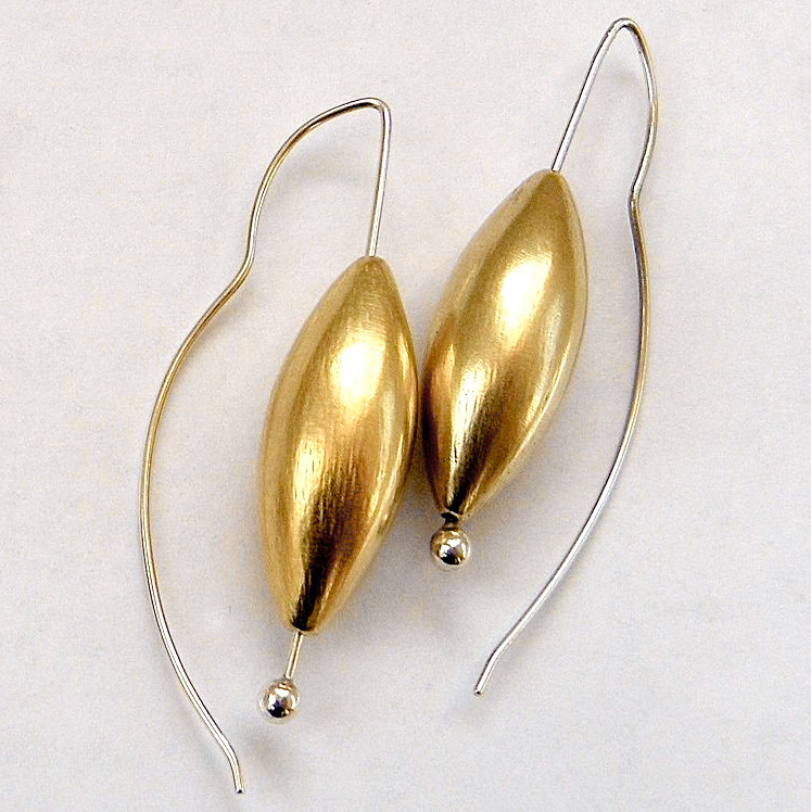 947 large cone 24K gold vermeil drop earrings