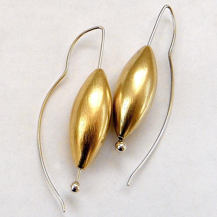 947 large cone 24K gold vermeil drop earrings