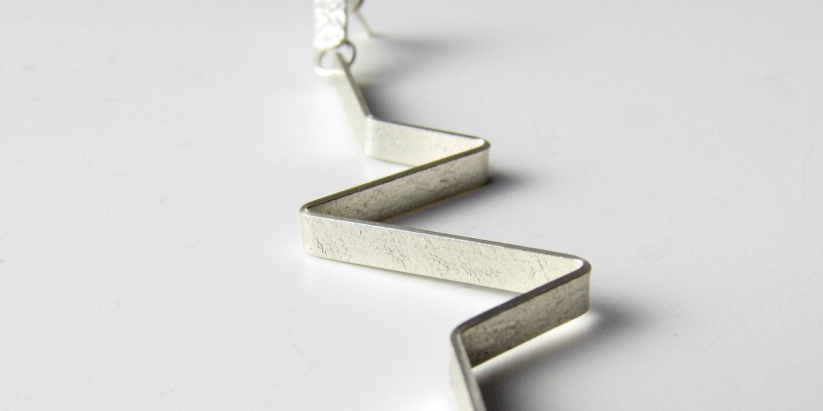 948 Lightening Bolt Earrings Silver
