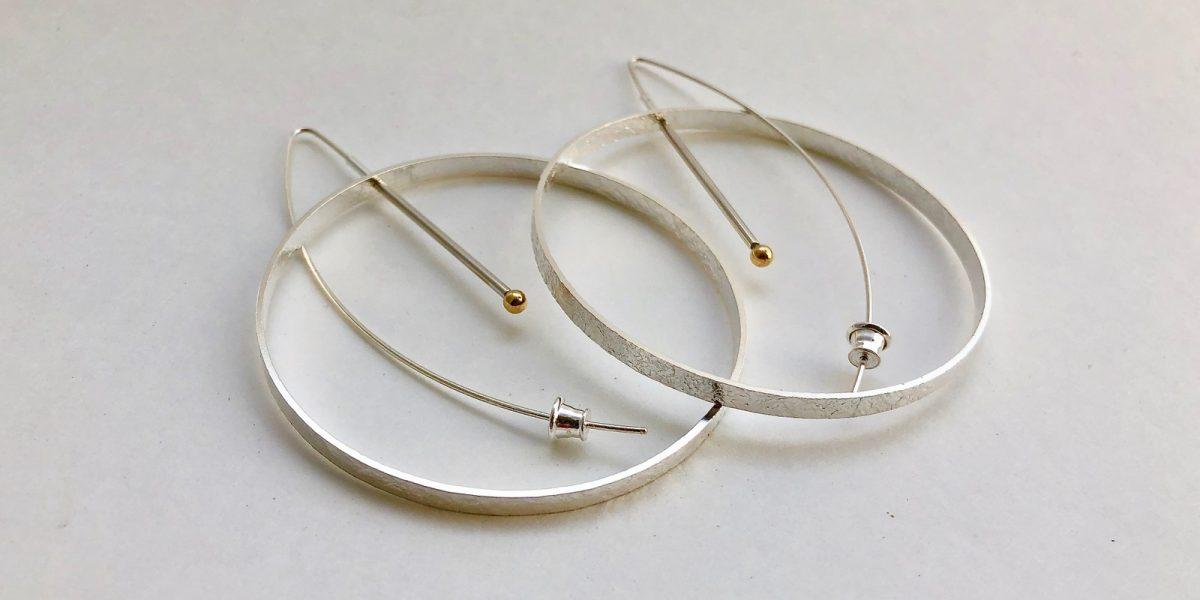 956 large circle earrings