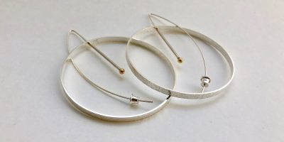 956 large circle earrings
