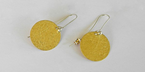 957 gold plated round earrings