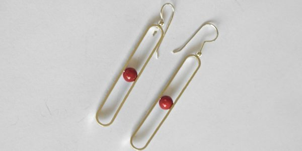 960 Drop Coral Earrings