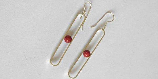 960 Drop Coral Earrings