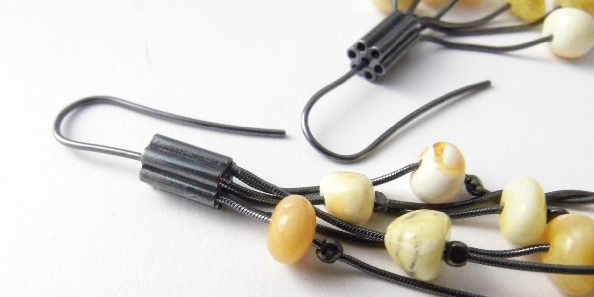 968 Long Butterscotch Earrings