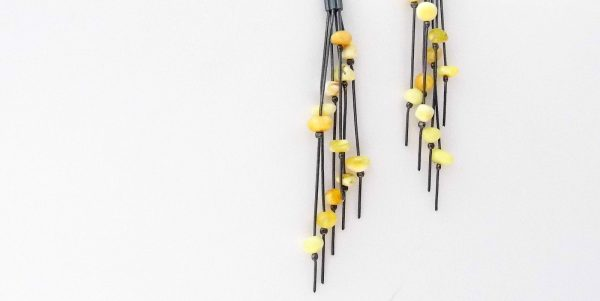 968 Long Butterscotch Earrings